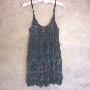 Tobi paisley pattern tank dress